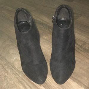 High Heel Black Ankle Booties